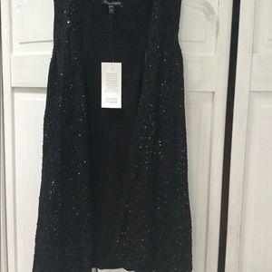 Eileen Fisher black sequin vest - Size M